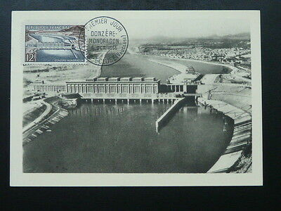 dam electricity energy 1956 maximum card 67805