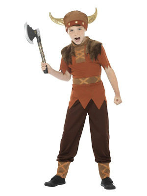 Viking Warrior Costume Childrens Boys World Book Day Week Fancy Dress Outfit