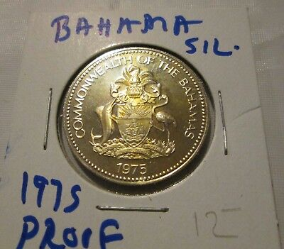 Bahama 50 cent Proof Silver Coin 1975