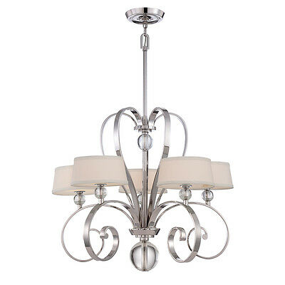 Quoizel Madison Manor 5 Light Ceiling Chandelier Fitting Imperial Silver QZ/MADI