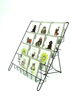Greeting Card Book DVD Magazine Counter Display Stand retail in Black (E8B)