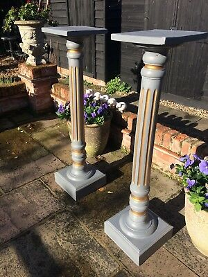 A pair of French decorative wooden columns circa 1950