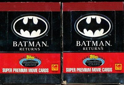 2 Box Lot 1991 Topps Stadium Club Batman Returns