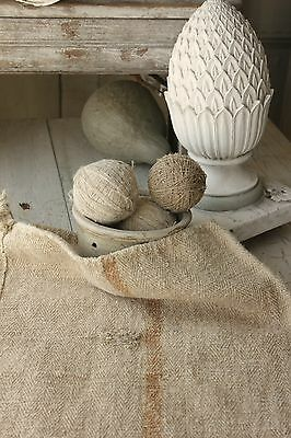 Antique GRAIN SACKS sack Natural hemp homespun WASHED linen Caramel primitive