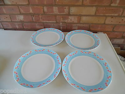"Royal Worcester Set of Four 10 3/4"" Dinner Plates - Up Up and Away - New"