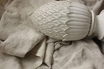 Antique French linen sheet old linen 85X114 PUTTY toned warm gray soft MOTTLED