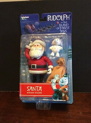 2001 Rudolph And The Island Of Misfit Toys Santa With Spotted Elephant Figures