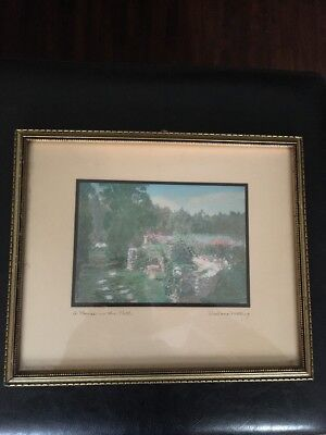 Wallace Nutting APause In The Path Signed Beautifully Framed Signed Original