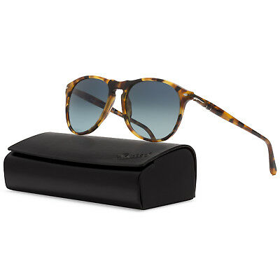 5a2c3ac9bde Persol 9649 Sunglasses 1052 S3 Madreterra Brown   Polarized Blue Gradient