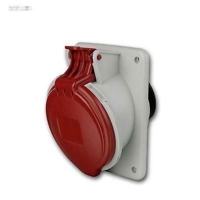 CEE installation socket IP44, 16A red, CEE Plug, 5-pin 400V Power Container