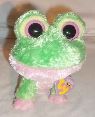Hard To Find Ty Beanie Boo Kiwi Frog In Nice Condition With Tags