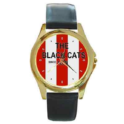 **new* The Black Cats Since 1879 Sunderland Round Wristwatch **fantastic Item**