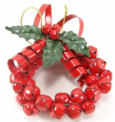 Red Christmas Bell Wreath Ornament