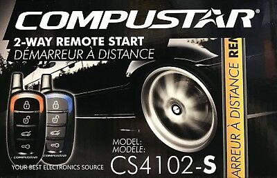 NEW Compustar CS4102-S 2-Way Remote Start System CS4102S