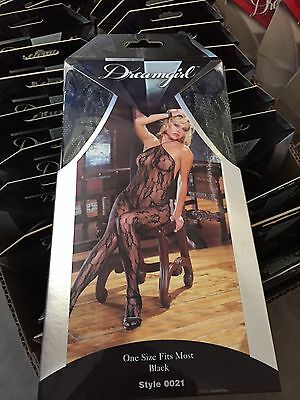 DreamGirl  Lace  Bodystocking Black Open crotch ,USA SELLER