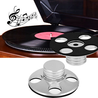 Audio LP Vinyl Turntables Metal Disc Stabilizer Record Weight Clamp Stereo HIFI
