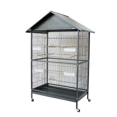 Large Parrot Cockatiel Parakeets Canary Finch Bird Cage with Roof Aviary 172cm