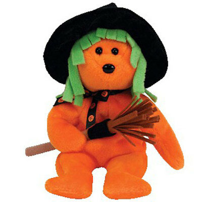 TY Beanie Baby - SPELLS the Halloween Bear (Internet Exclusive) (9 inch) - MWMTs