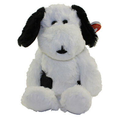 TY Attic Treasures - MUGGY the Black & White Dog (Medium Size - 12 inch) - MWMTs