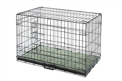 HQ Pet Dog Folding 2 Door Deluxe Crate Puppy Carrier Training Cage With Bed