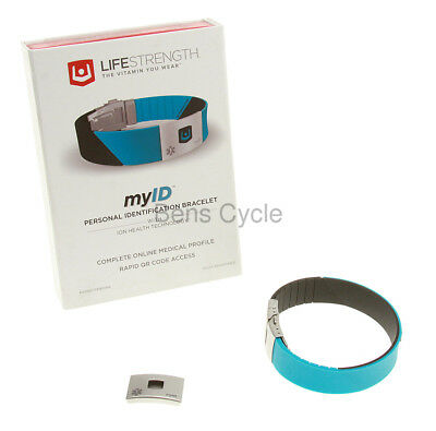 LifeStrength myID Personal ID Bracelet Medical Bracelet Turquoise ION NEW in Box