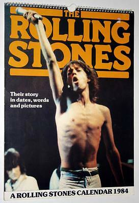 Calendrier 1984 Calendar THE ROLLING STONES