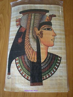 Genuine Egyptian  PAPYRUS - Queen Cleopatra - 29.5 x 19.5cm    #401