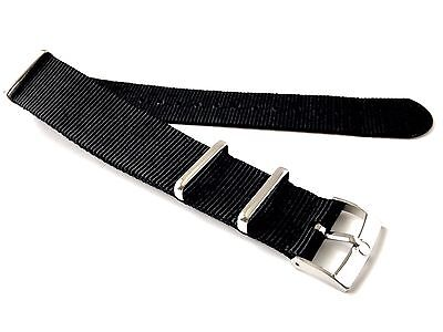 22mm Omega Buckle & NATO ® Strap Black
