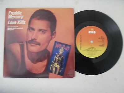 "Freddie Mercury Giorgio Moroder Queen 7"" Single P/s * Love Kills *"