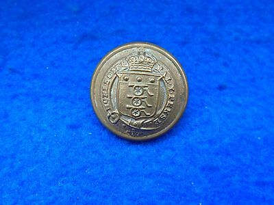 1890-1918 Royal Army Ordnance Corps 25Mm Officers Rimmed Tunic Button, Pitt