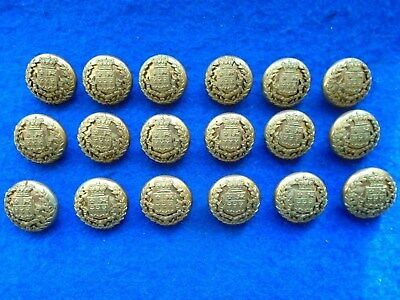 18 X Victorian Eton College Rifle Corps Otc Officer Training Corps Button