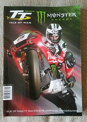 2015 isle of man tt signed programme