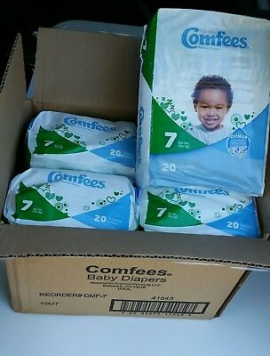 80 Size 7 Comfees Baby Diapers, 41+ lbs, Unisex