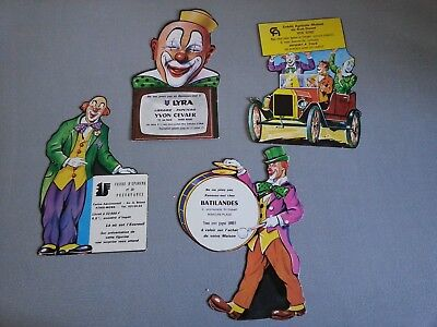 lot 4 cartons publicitaires cirque CLOWN no pinder jean richard amar gruss