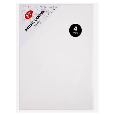 4 Pack Canvas Artist Stretched Acrylic Primed Box Framed Cotton Art Blank