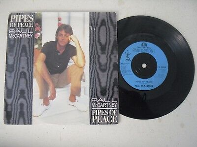 "PAUL McCARTNEY THE BEATLES BLUE LABEL 7"" SINGLE P/S * PIPE OF PEACE *"