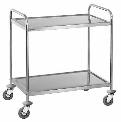 Bartscher 2 Borde Serving Trolley Clearing Tea Kitchen Cart NEW