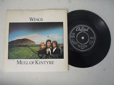 "WINGS PAUL McCARTNEY 7"" SINGLE P/S * MULL OF KINTYRE / GIRLS SCHOOL *"