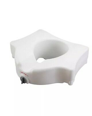 Raised Toilet Seat 5 Inch White 300 lbs.-Drive Medical-Elevated-Raised-RTL12026