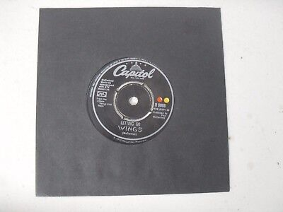 "WINGS PAUL McCARTNEY THE BEATLES 7"" SINGLE B/S * LETTING GO *"