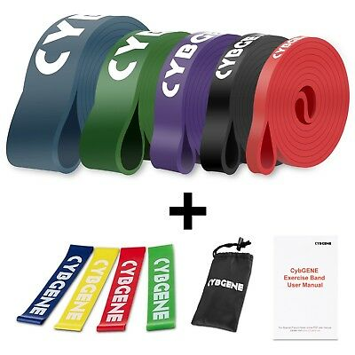 Gymnastikband Set of 4 Loop Band Kurz Fitnessband Resistance Band Anleitungsbu
