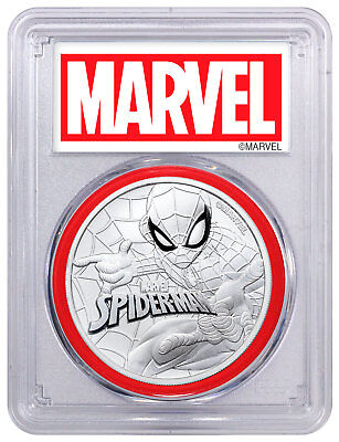2017 Tuvalu Spider-Man 1 oz Silver Marvel Series PCGS MS70 Red Gasket SKU49938