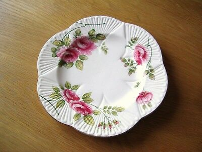 Vintage Shelley Bone China Cake Or Sandwich Plate –Rambler Rose Pattern.