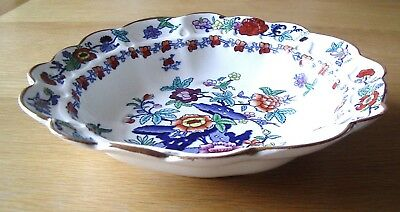 ANTIQUE SILICON CHINA FRUIT BOWL BY BOOTHS –POMPADOUR PATTERN –Rd NUMBER 510607.