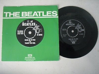 "The Beatles 7"" Single P/s * From Me To You / Thank You Girl *"