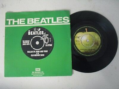 "The Beatles 7"" Single P/s * Ballad Of John And Yoko / Old Brown Shoe *"
