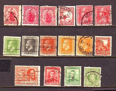New Zealand Old Used/hinged Lot Of 16