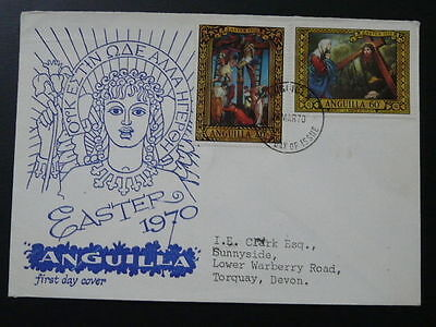 religious paintings Easter 1970 FDC Anguilla 69768