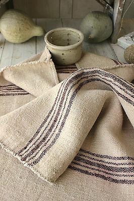 Antique GRAIN SACK feedsack feedbag old linen hemp vintage interior textile RARE