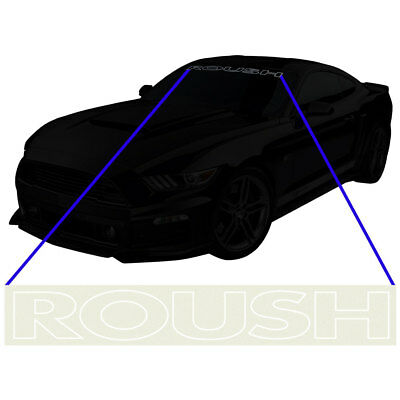 Roush 421903 Mustang Windshield Banner Etched Glass 2015-2018